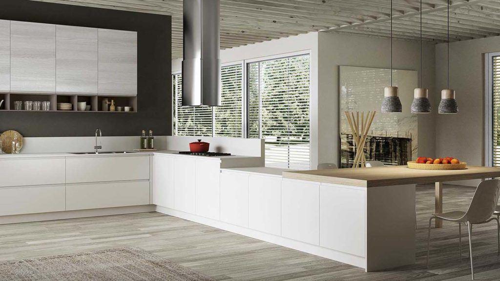 Cucina moderna con penisola 3 arredamenti meneghello - Cucina moderna con penisola ...