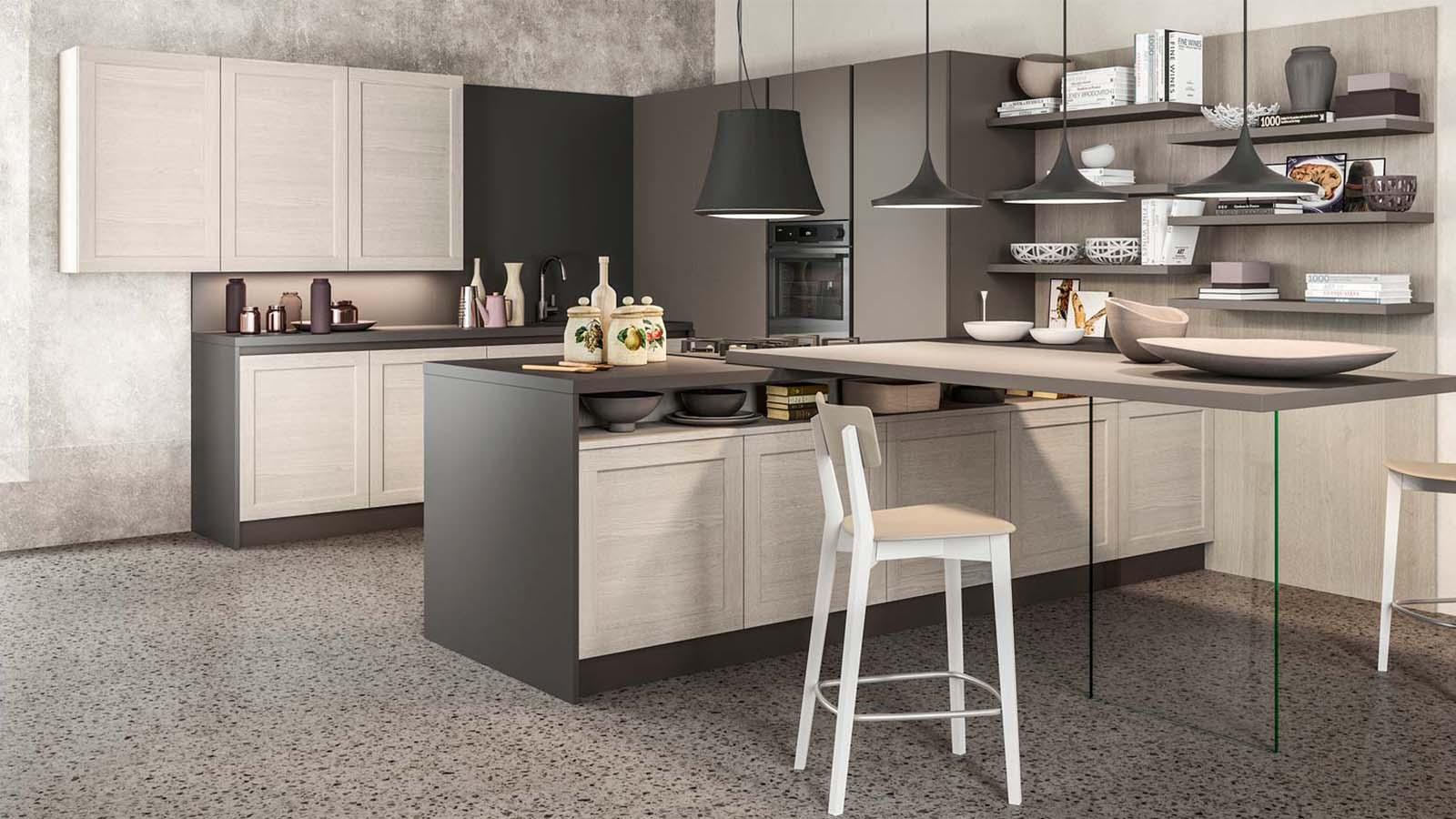 Vendita cucine padova negozio di arredamento cucine for Cucine moderne con penisola