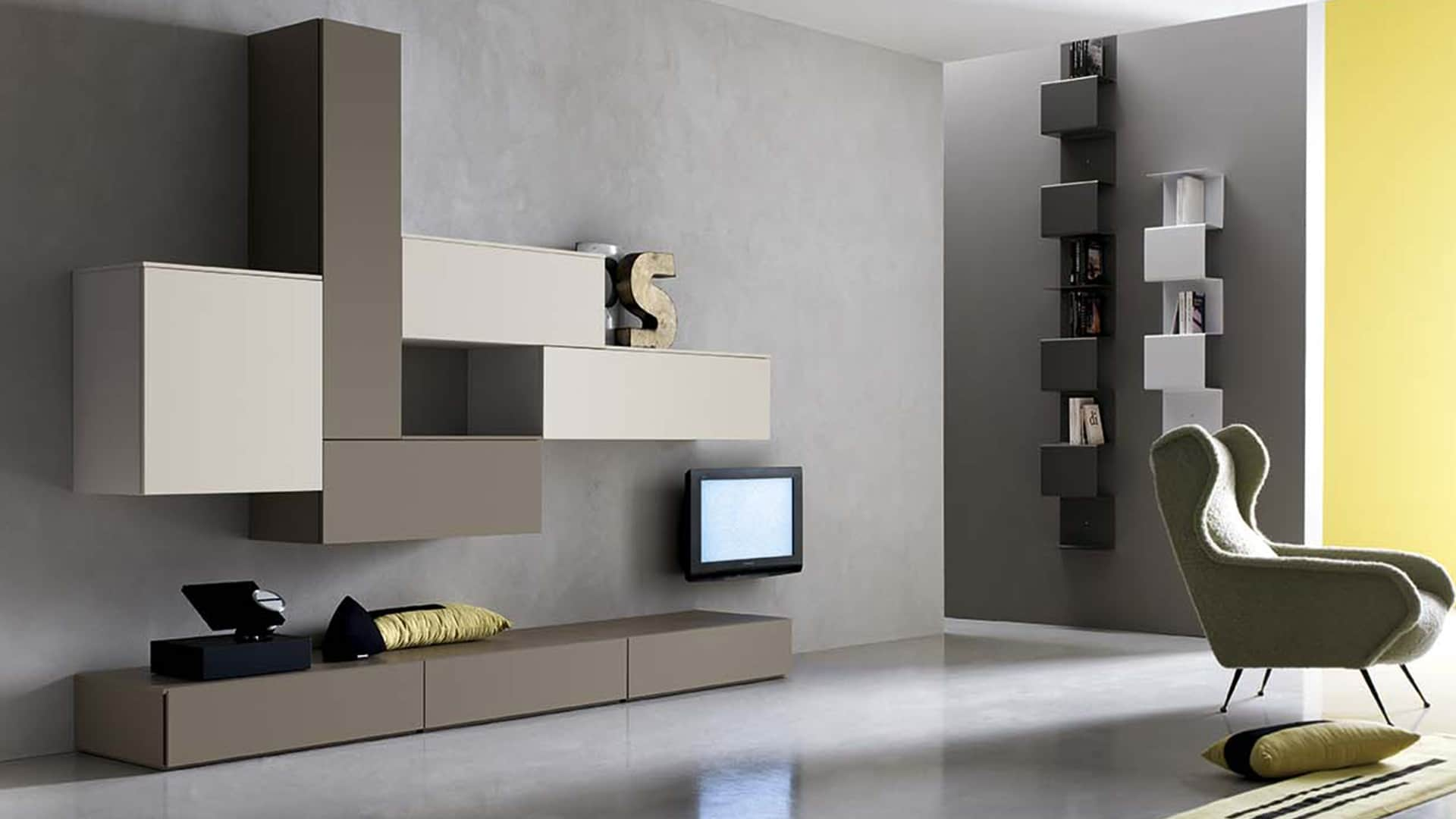 Mobili divisori bifacciali - Mobili per salone moderni ...