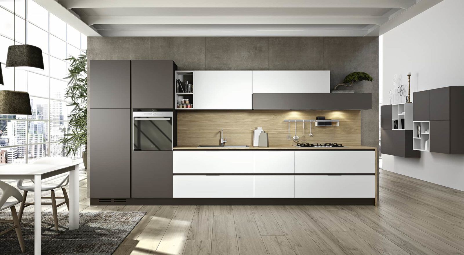 Cucine Angolo Piccole. Narrow Kitchen With Ikea Kitchen Cabinets ...