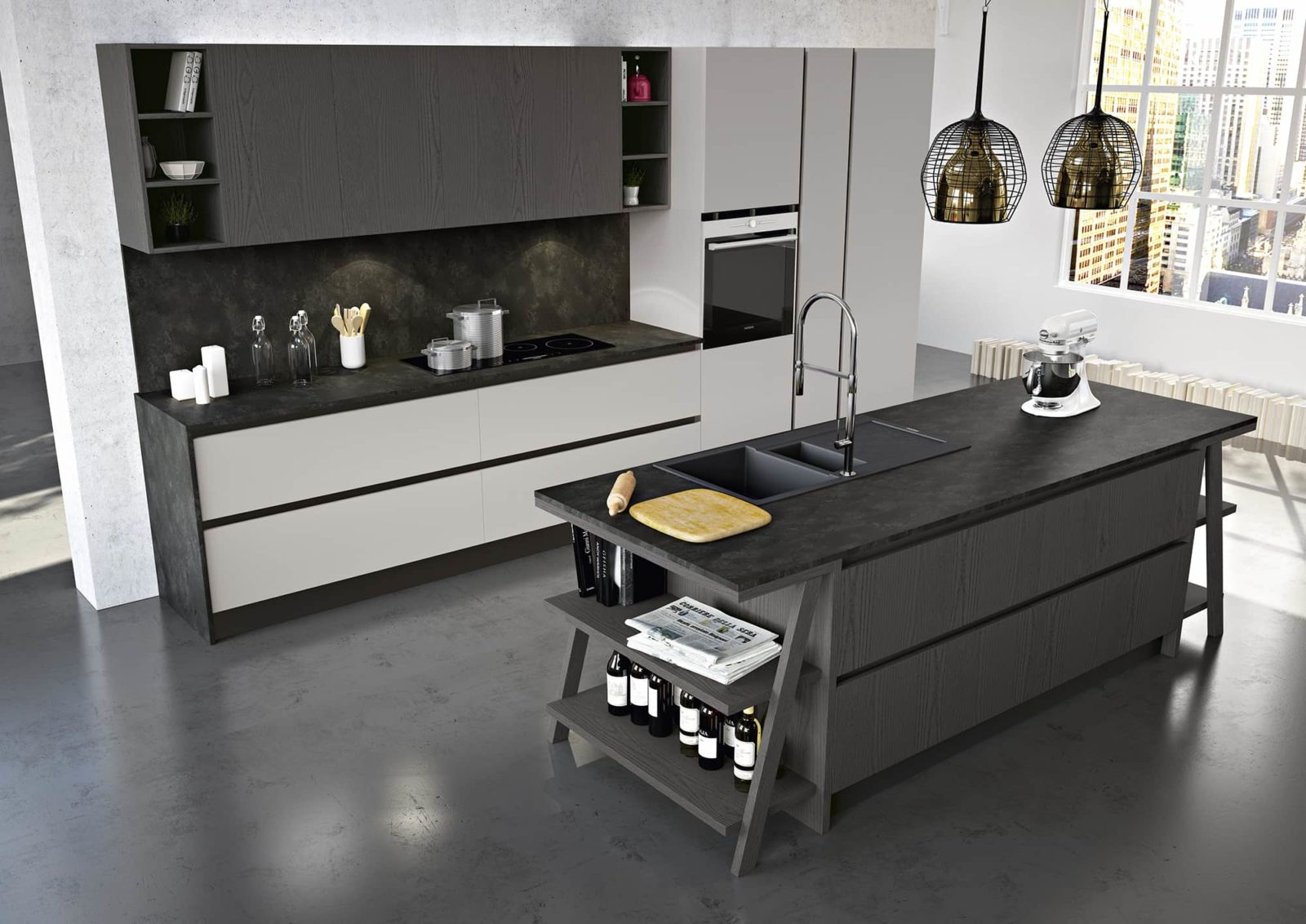 Cucine moderne con isola arredamenti meneghello - Immagine cucine moderne ...