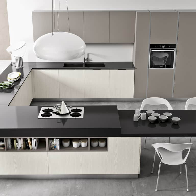 Vendita cucine padova negozio di arredamento cucine - Cucina angolare con penisola ...