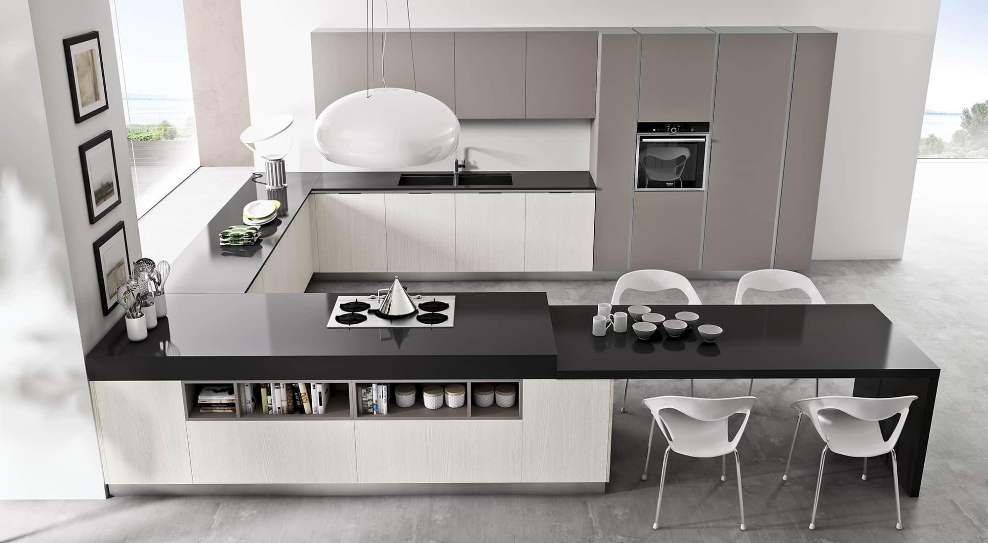 Arredamenti meneghello arredo cucina tipologie - Cucine ad angolo con penisola ...