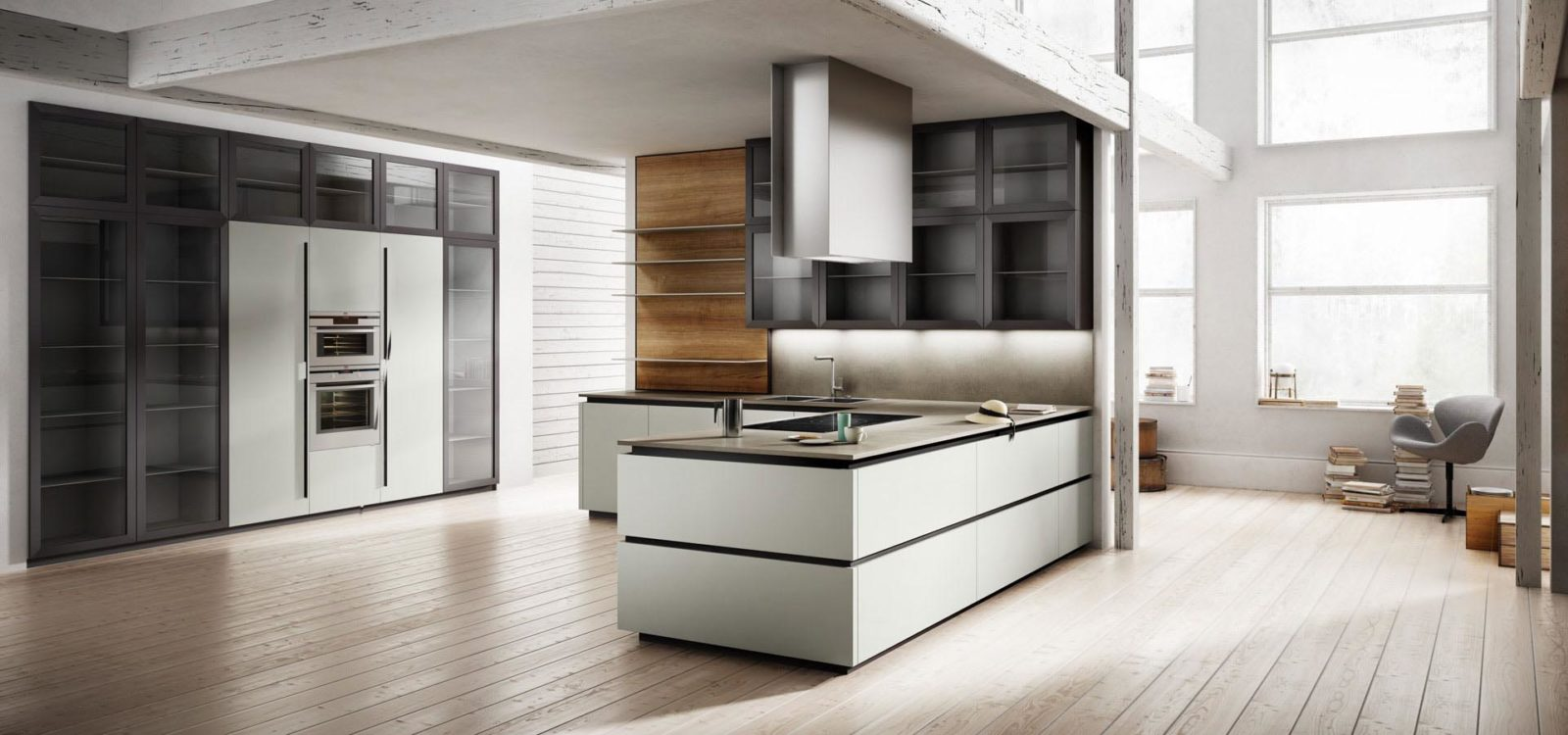 Vendita cucine moderne a padova lineari con isola e ad for Arredo cucina design