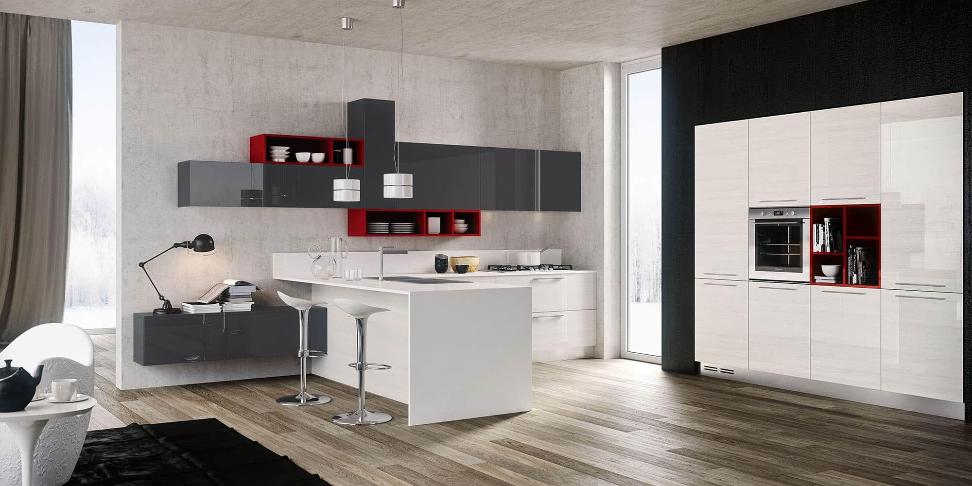 Concept Cucina Moderna Con Isola E Mobili Wenge Interior Design : Idee cucina moderna originali per arredare una