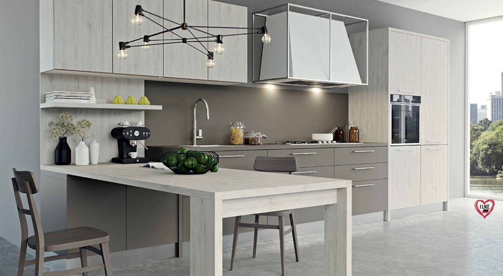 Cucine moderne con penisola padova - Cucina con penisola centrale ...
