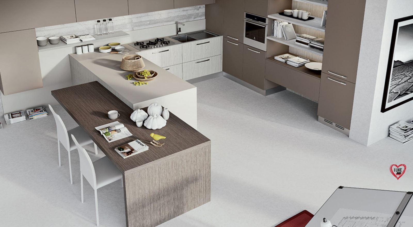 Cucine moderne con penisola padova for Cucina a concetto aperta con isola
