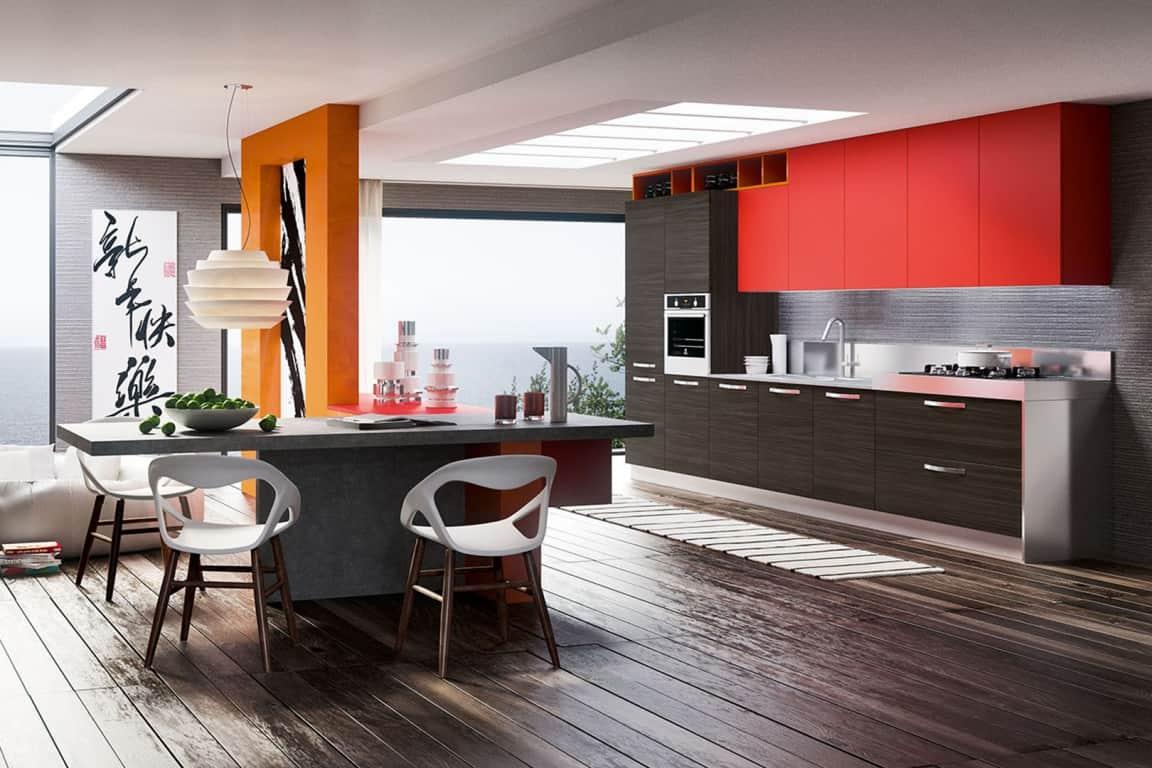 Cucina lineare 3 metri moderna sogno immagine spaziale - Cucina 3 metri angolare ...
