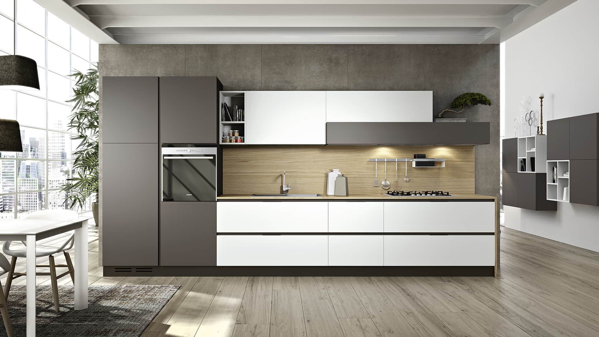 Cucine lineari moderne padova anche in offerta - Cucine d arredo ...