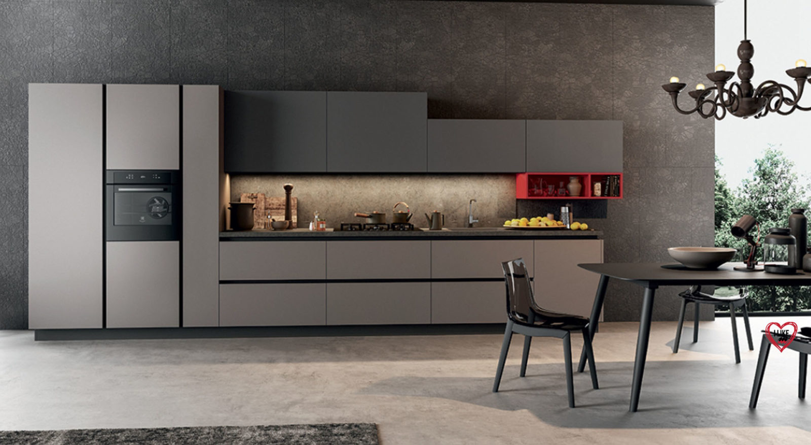 Cucine moderne lineari jw02 regardsdefemmes for Cucina moderna 330