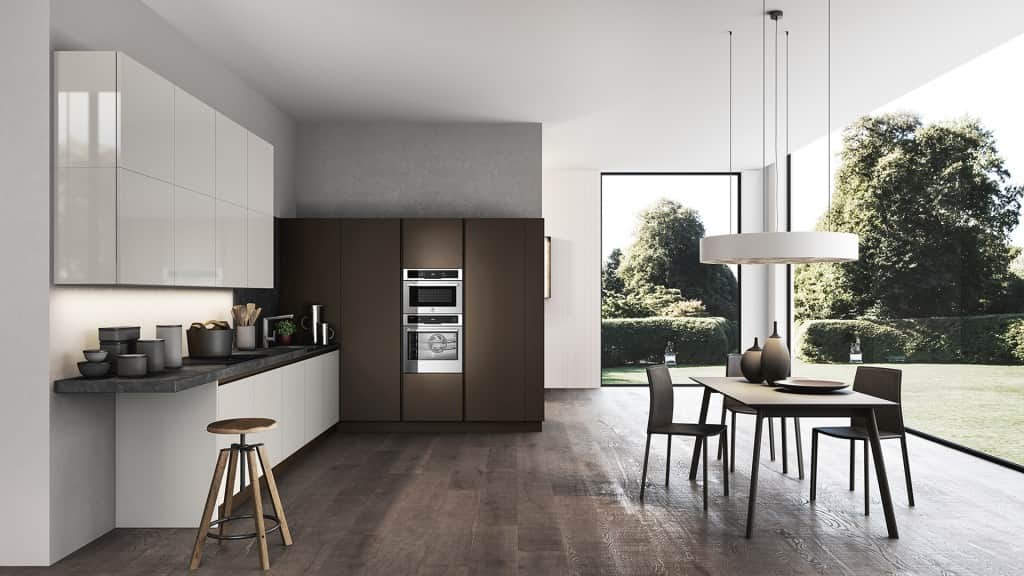 Cucina moderna ad angolo arredamenti meneghello - Cucina angolo moderna ...