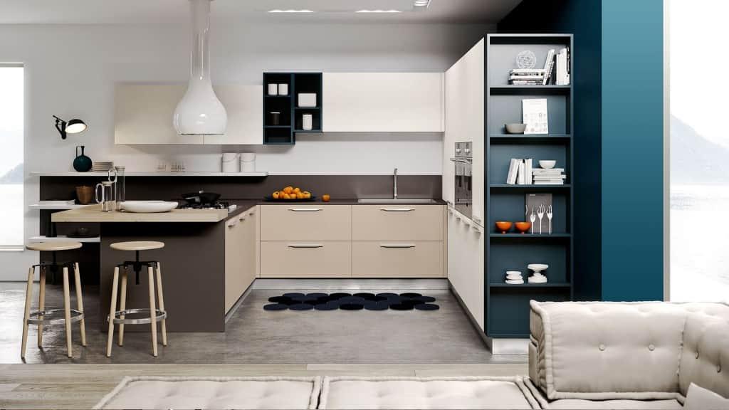 Cucina moderna angolare con penisola arredamenti meneghello - Cucina angolare con penisola ...