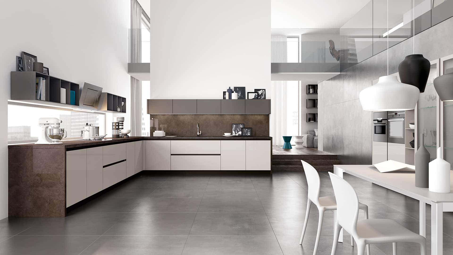 Cucine angolari moderne a padova - Ambientazioni cucine moderne ...