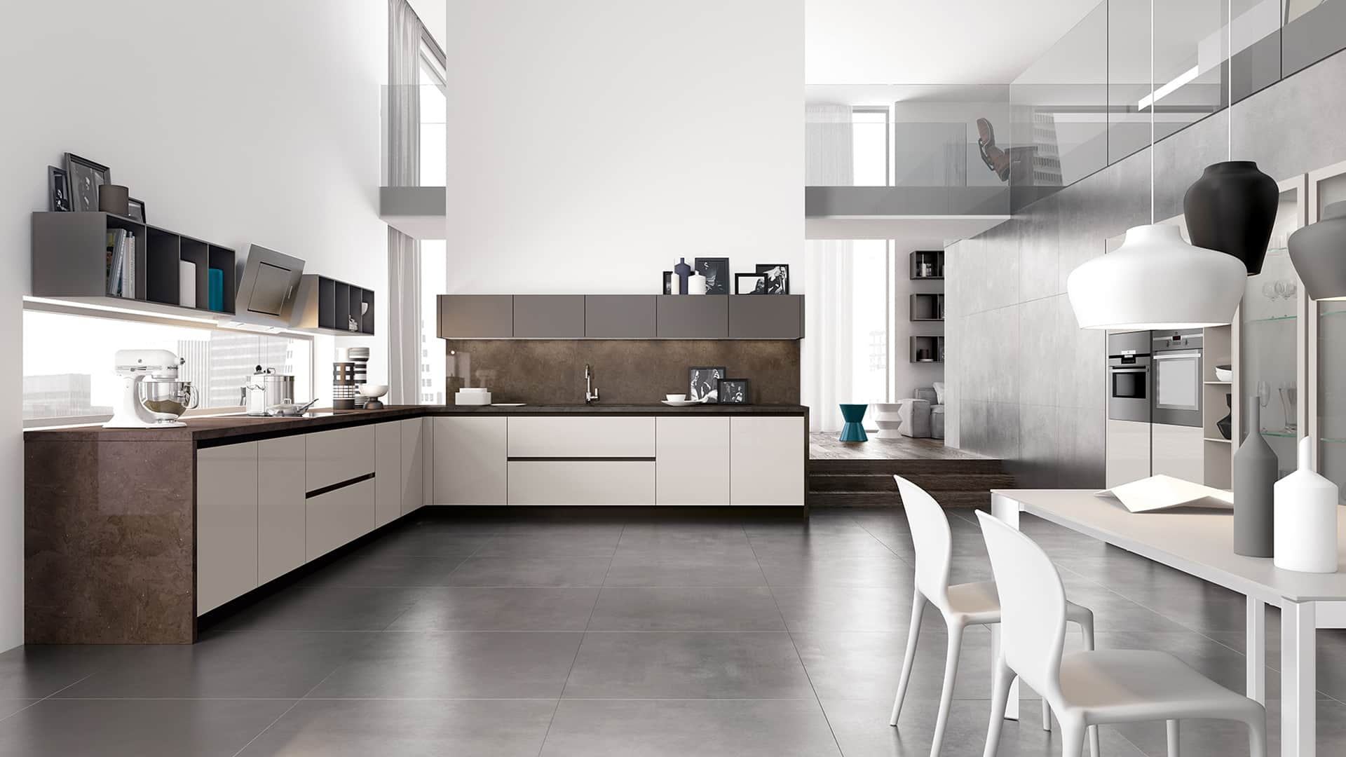 Mensole cucina moderna idee di design per la casa - Mensole per cucina moderna ...