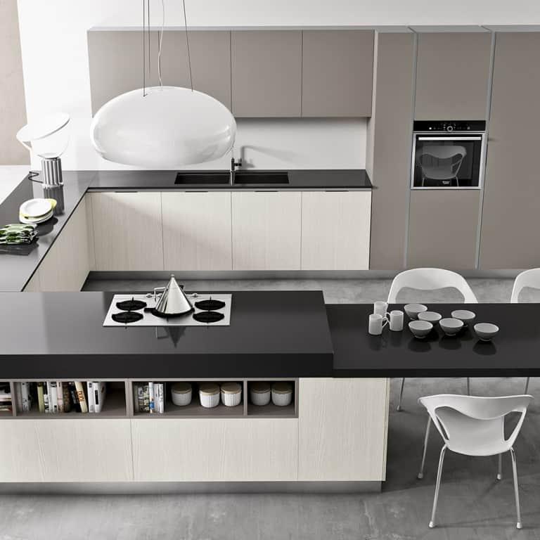 Cucine angolari moderne a padova for Prezzi cucine con penisola