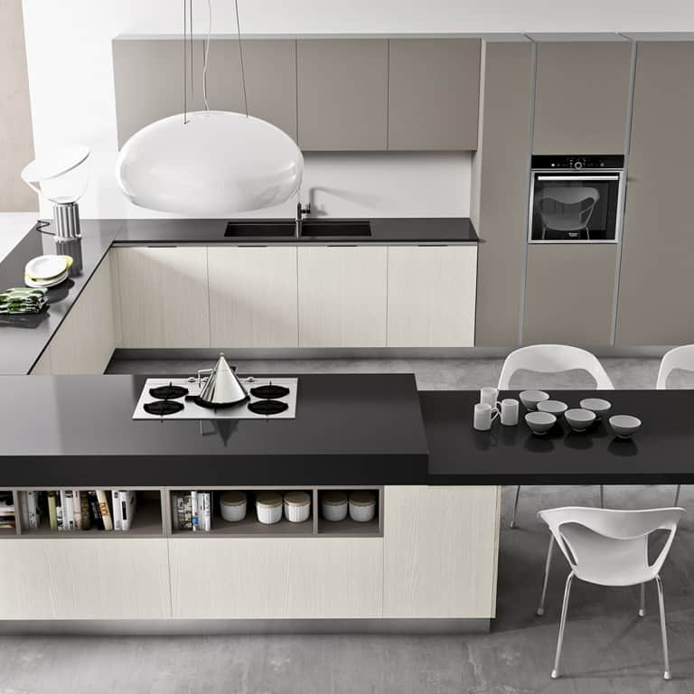 Cucine angolari moderne a padova - Cucina penisola ikea ...