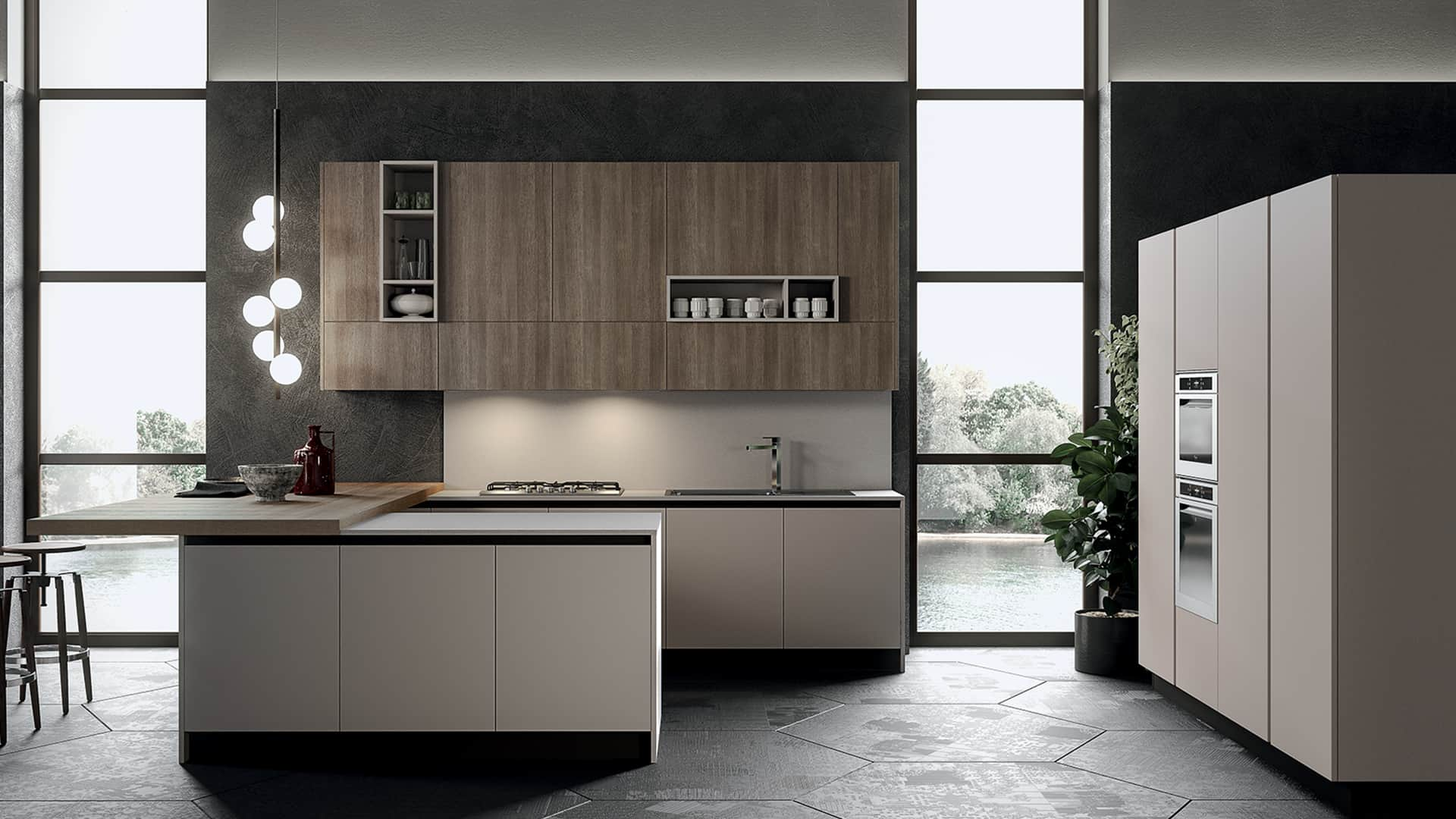 Cucine moderne con penisola padova - Cucina angolare con penisola ...