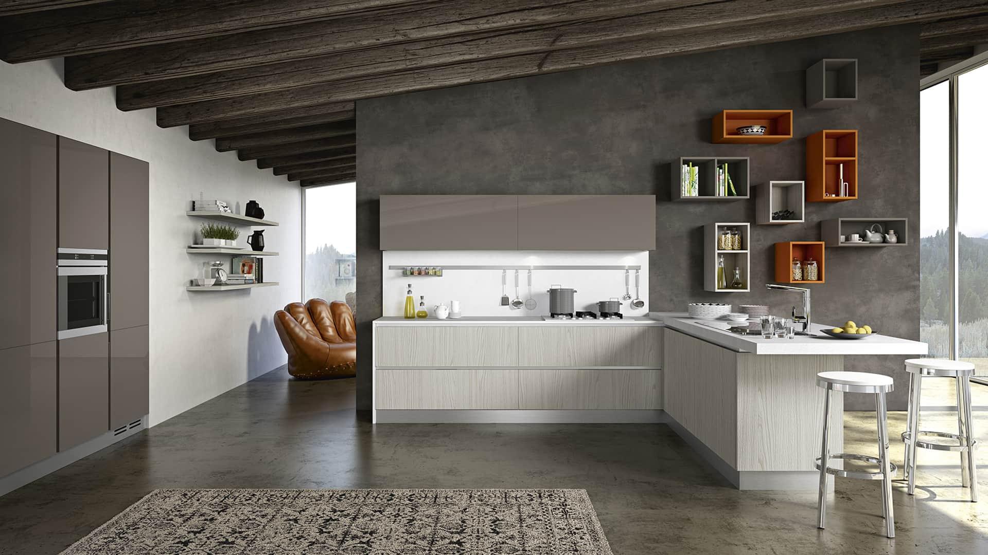 Cucine moderne con penisola padova - Cucine a penisola ...