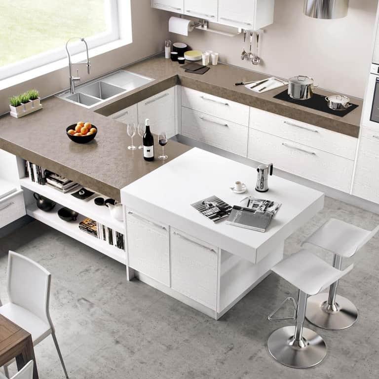 Cucine angolari moderne a padova - Cucine con lavatrice ...