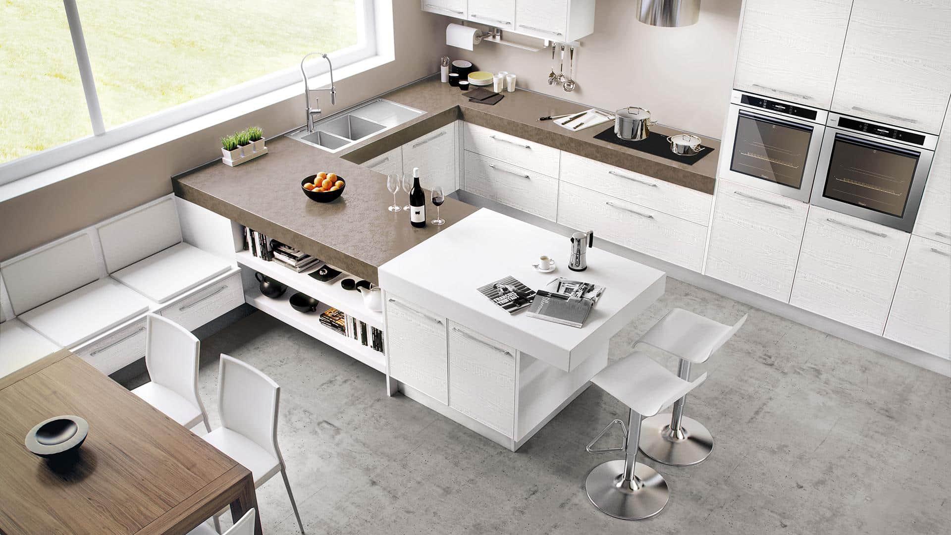 Cucine angolari moderne a padova - Cucine moderne con penisola ...