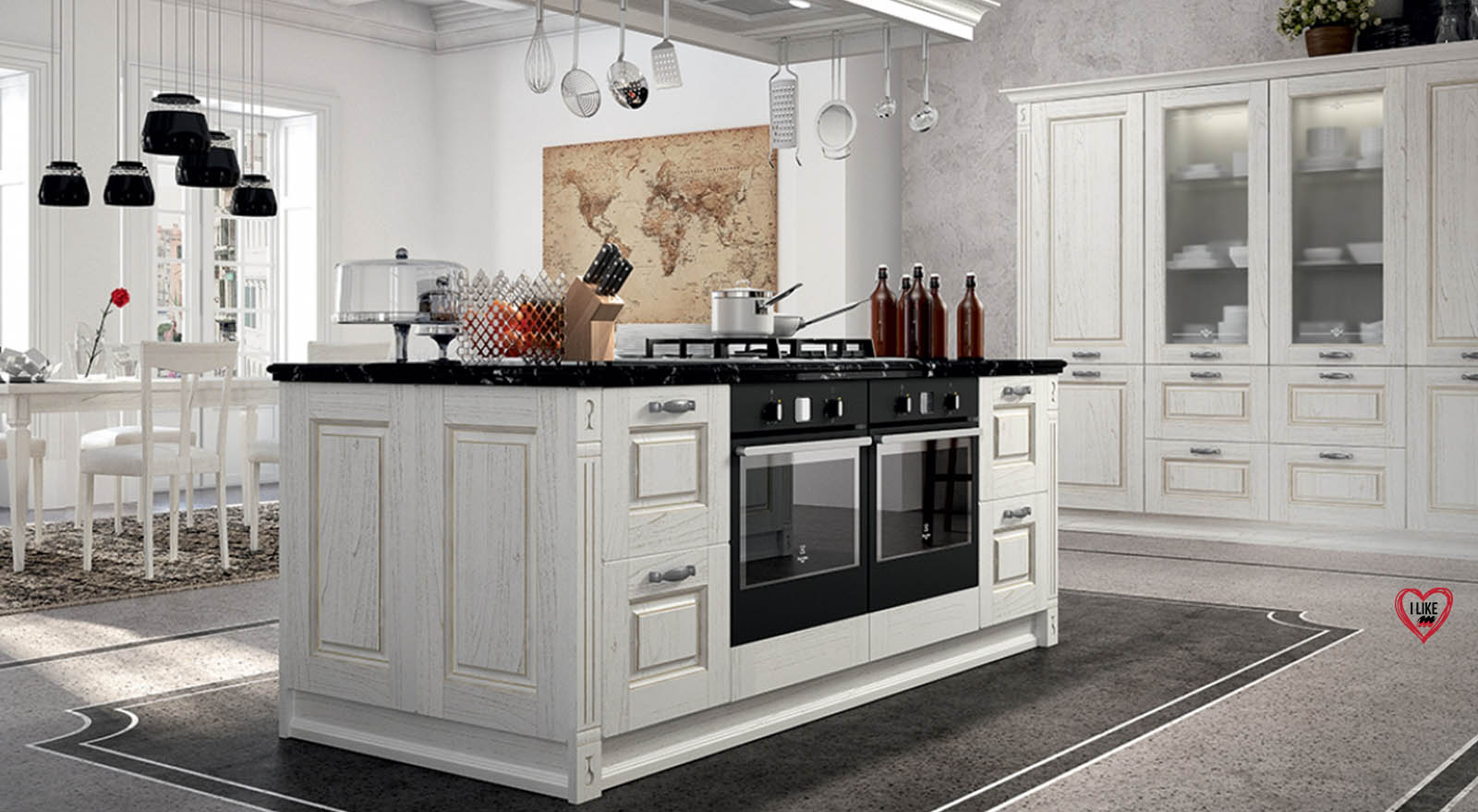 Cucine classiche in legno a padova - Cucine in legno chiaro ...