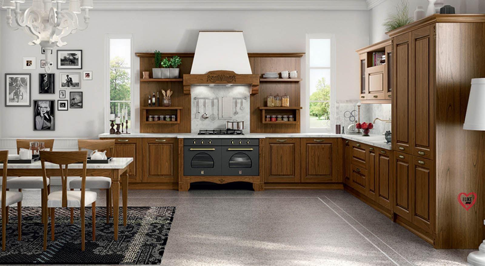 Gallery of cucine classiche legno scuro with immagini cucine classiche - Immagini di cucine classiche ...