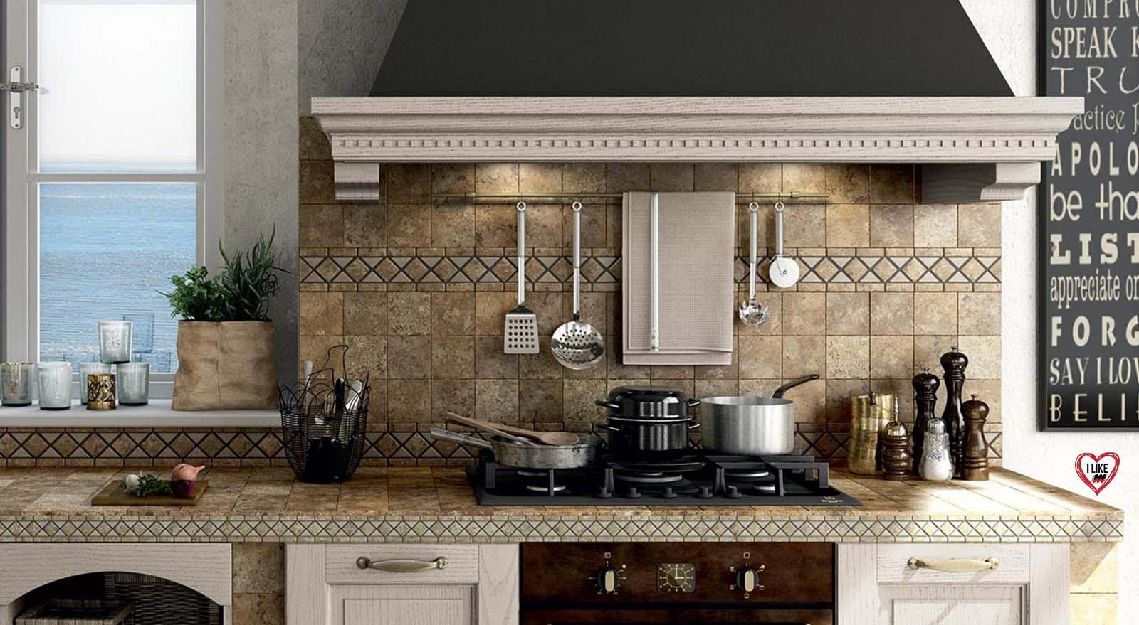 Vendita di cucine classiche in muratura a padova marchio lube - Cucine particolari in muratura ...