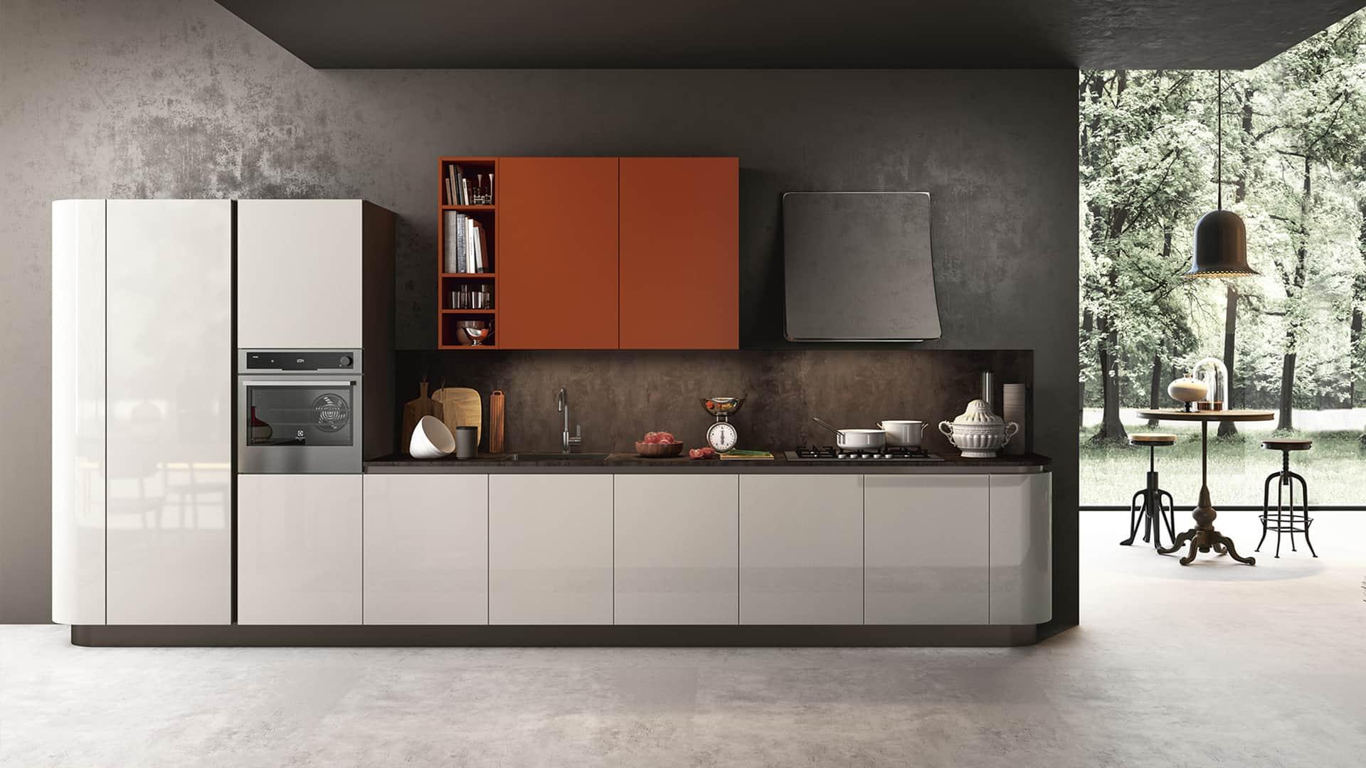 Cucine moderne lineari fabulous cucine moderne cucine for Offerte cucine lineari