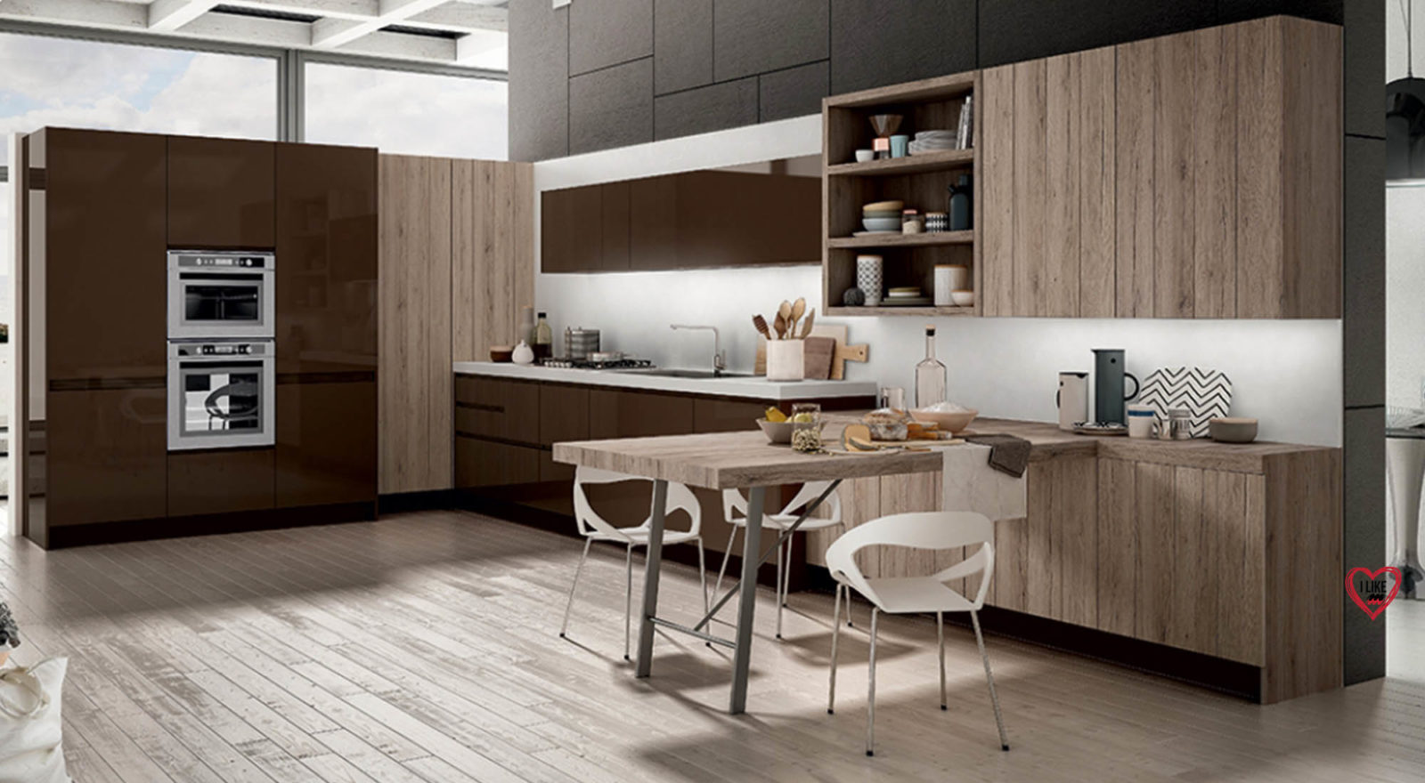 Cucine moderne ad angolo awesome cucina blu in frassino - Cucine moderne ad angolo con finestra ...