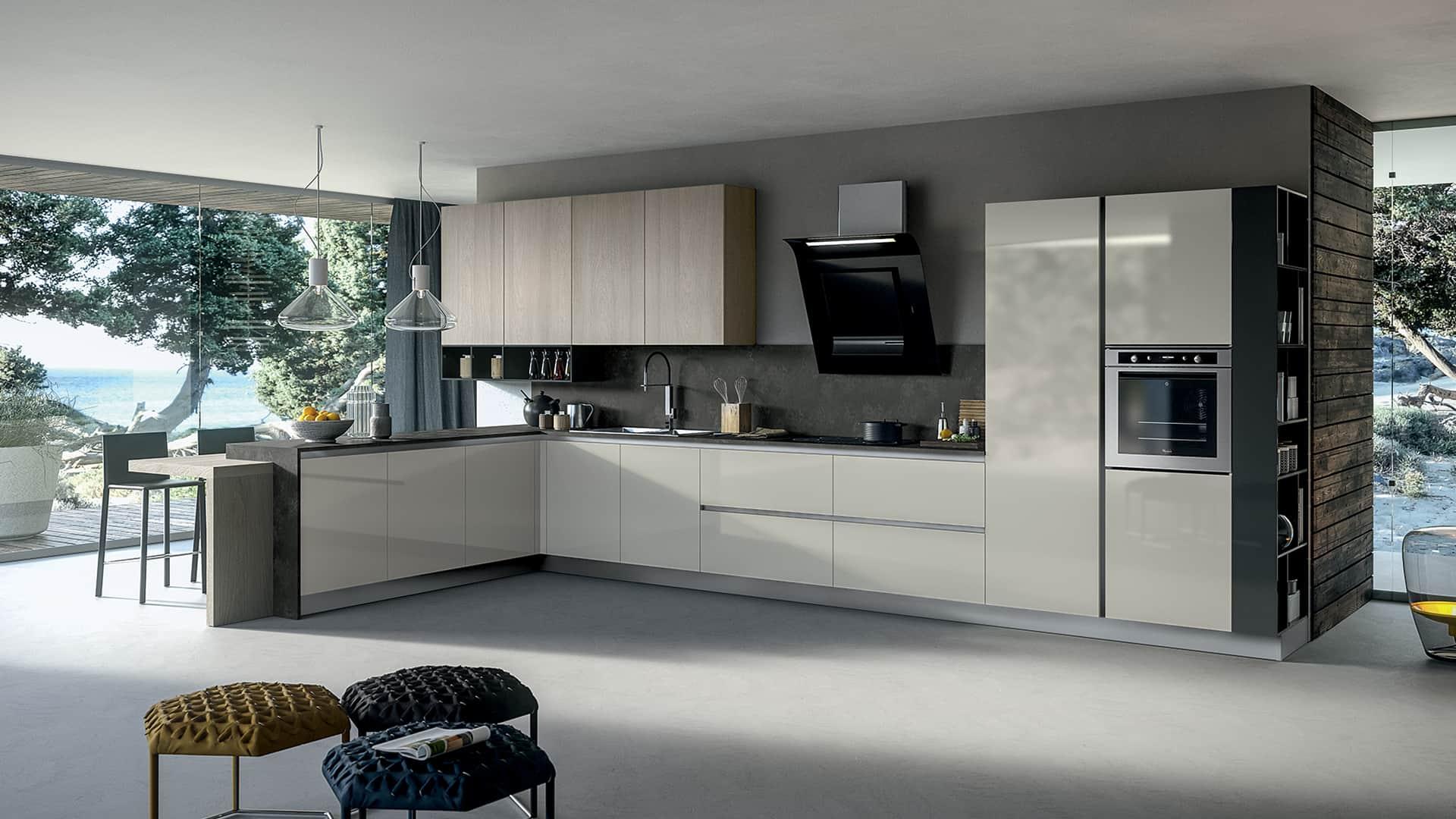 Cucine Moderne Con Angolo Cottura Ad Angolo  madgeweb.com idee di interior design