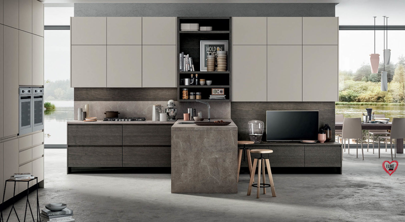 Amato Cucine moderne con penisola Padova EH92