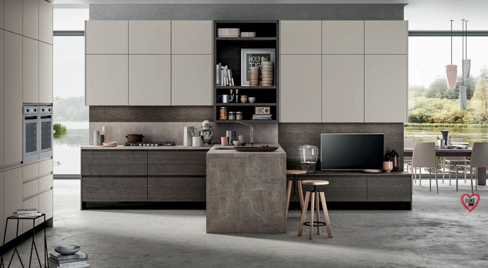 Super Cucine moderne con penisola Padova CS76