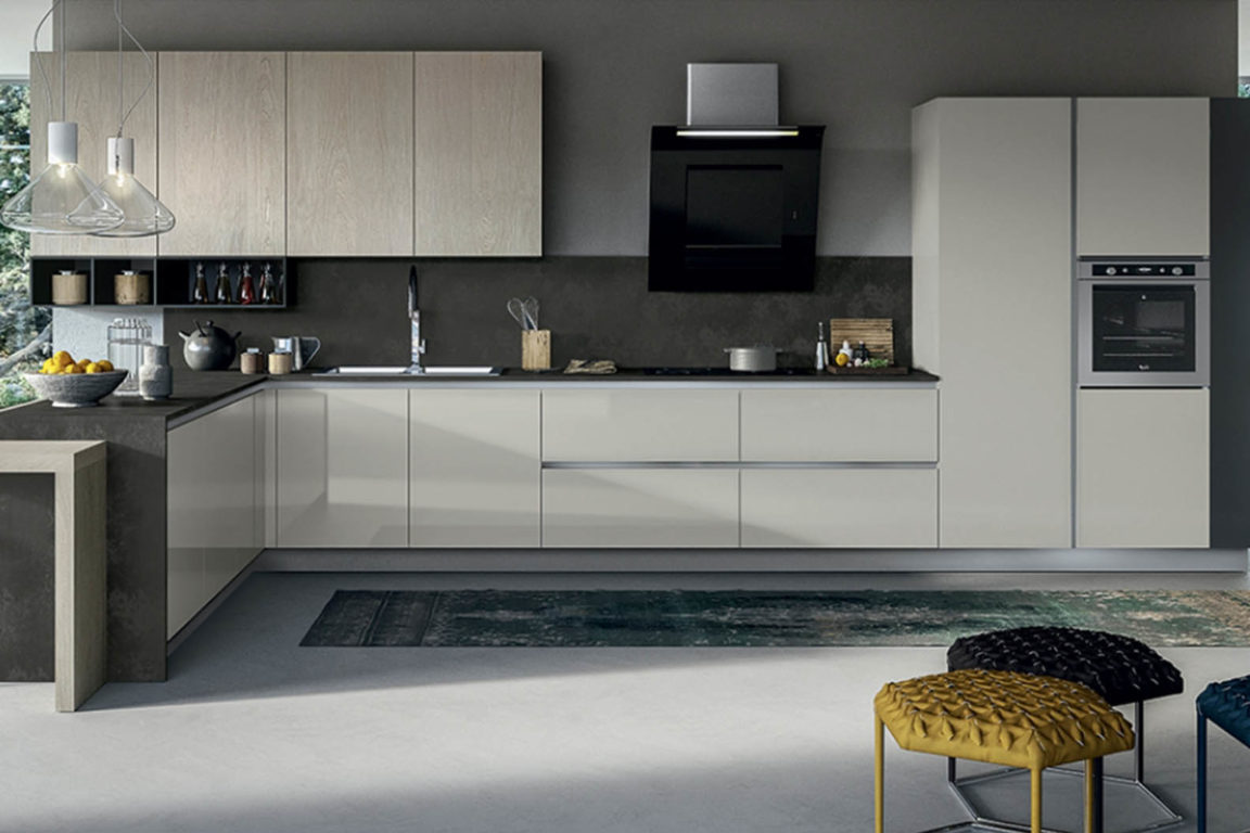 Cucine moderne gialle finest la cucina con il tavolou da - Cucine moderne gialle ...
