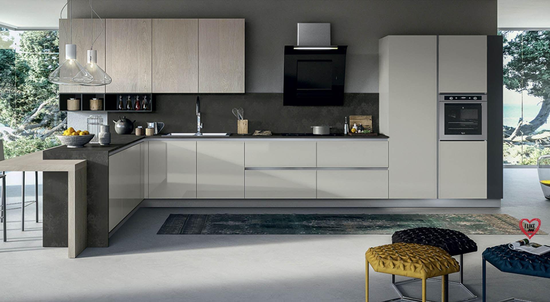 Cucine moderne con penisola padova - Cucine moderne gialle ...