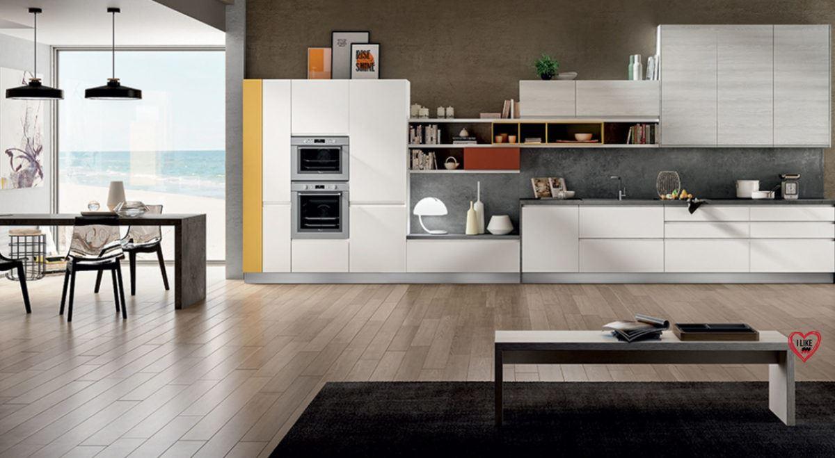 Cucine Moderne Lineari. Cucina Componibile Moderna Murano With ...