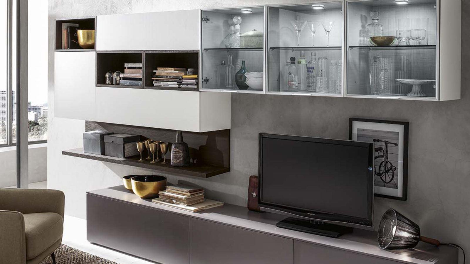 Mobili da soggiorno molteni idee per il design della casa for Salotto e soggiorno