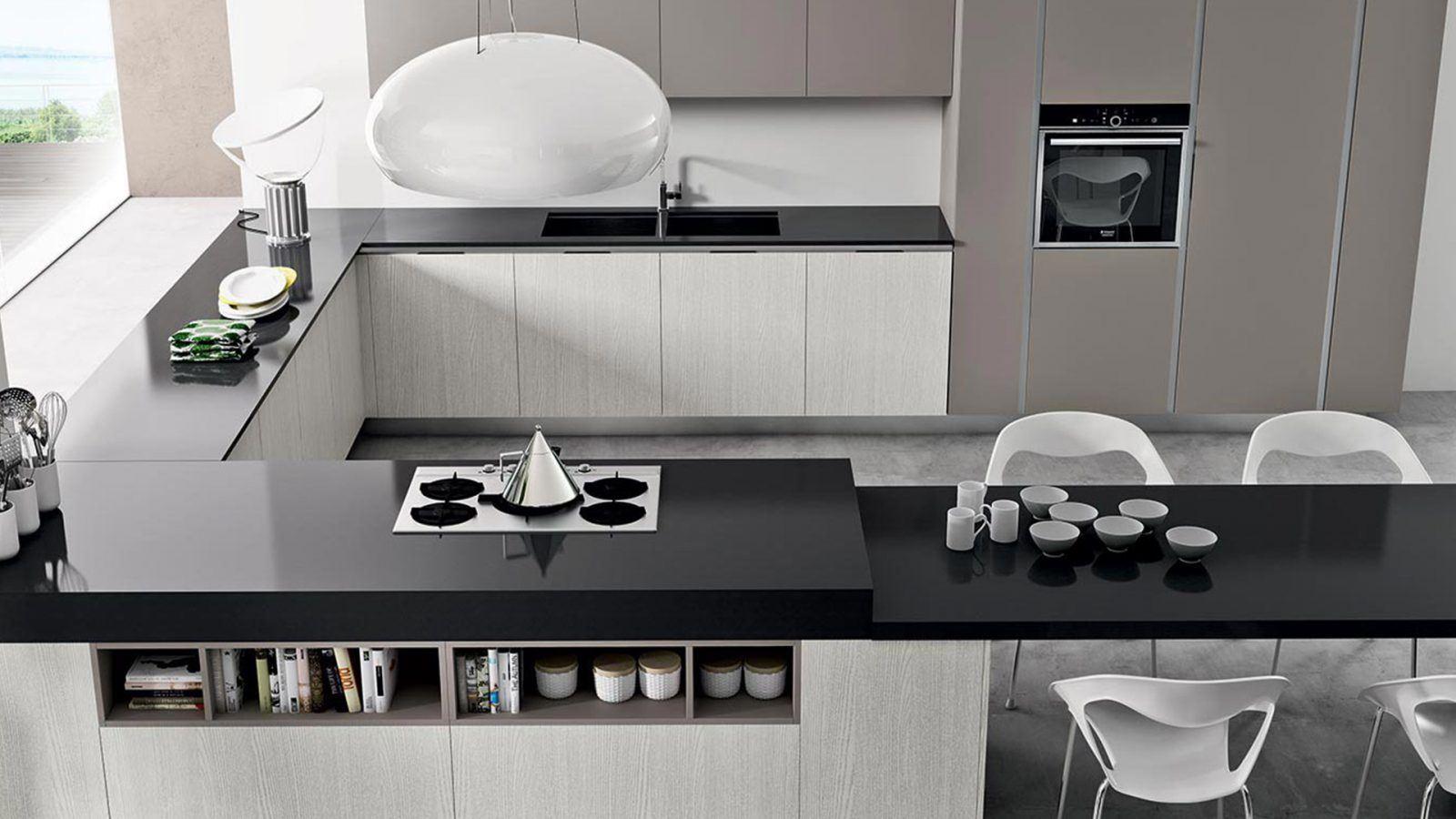 Cucine di design moderno e contemporaneo a padova - Plafoniere moderne per cucina ...