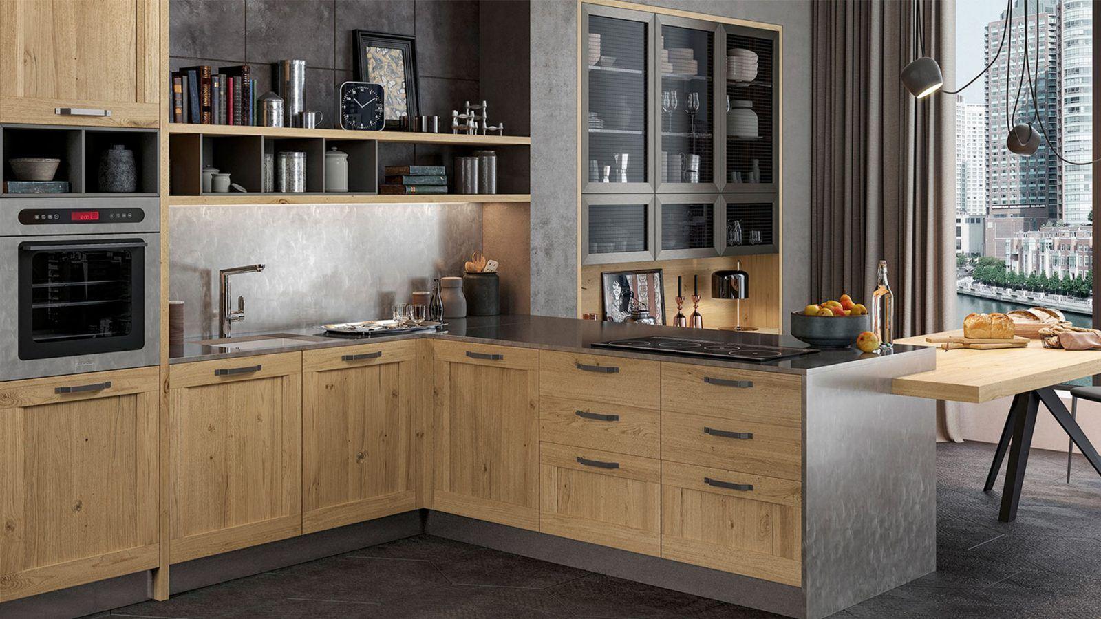 Cucine in legno su misura arredamenti meneghello for Migliori cucine 2016