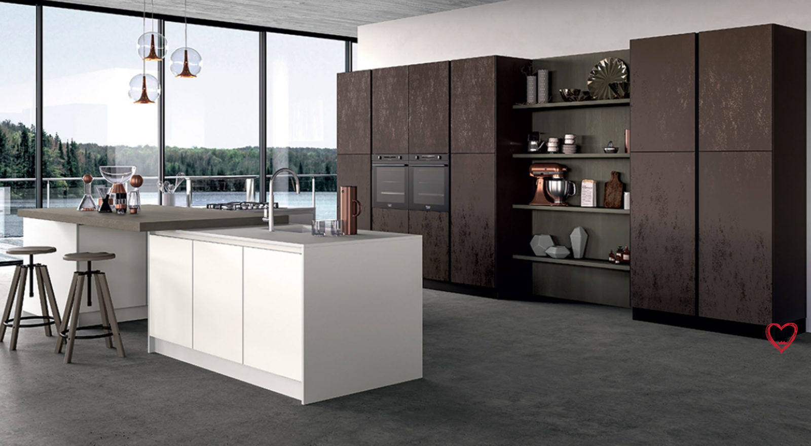 Cucine di design moderno e contemporaneo a padova - Cucine decorate ...