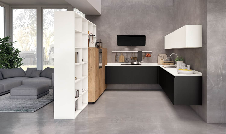 Piccole cucine moderne e componibili e con isola a padova for Cucine living prezzi