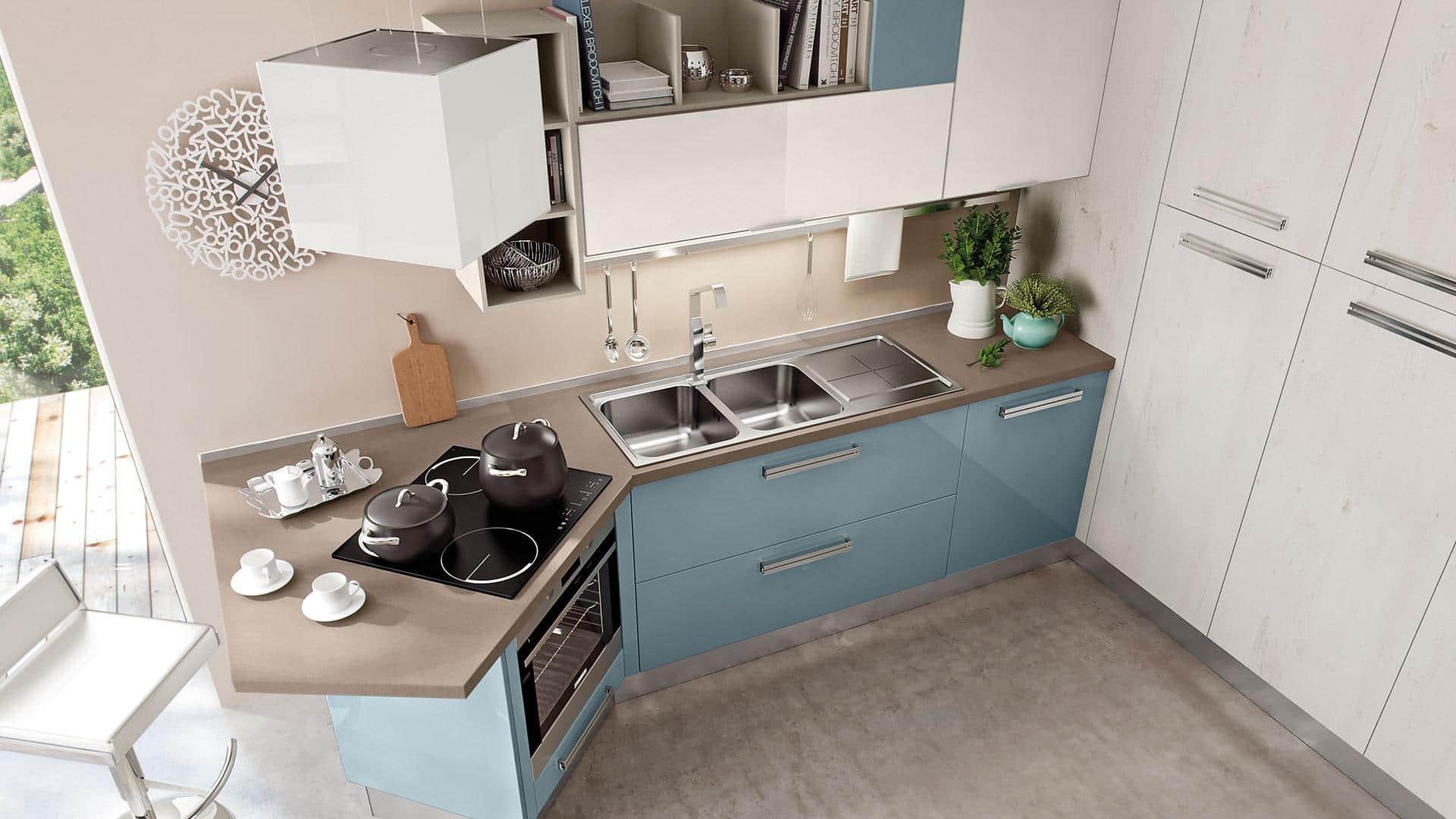 Piccole cucine moderne e componibili e con isola a padova - Cucine ad angolo con penisola ...
