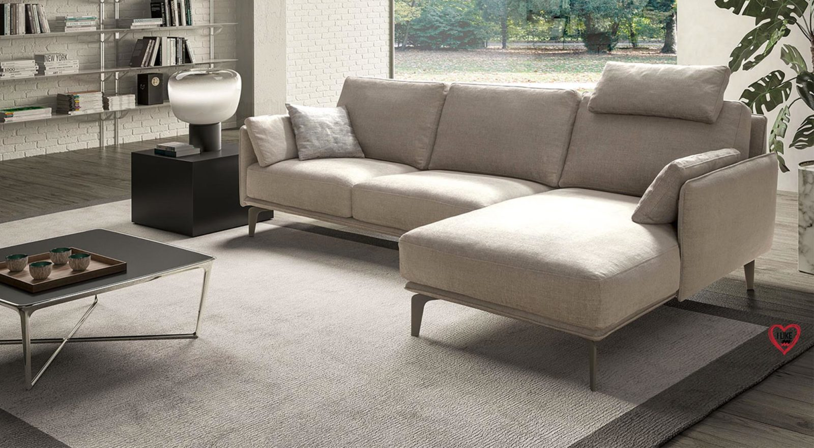 Divani in tessuto divani due posti e angolari for Divano minimal