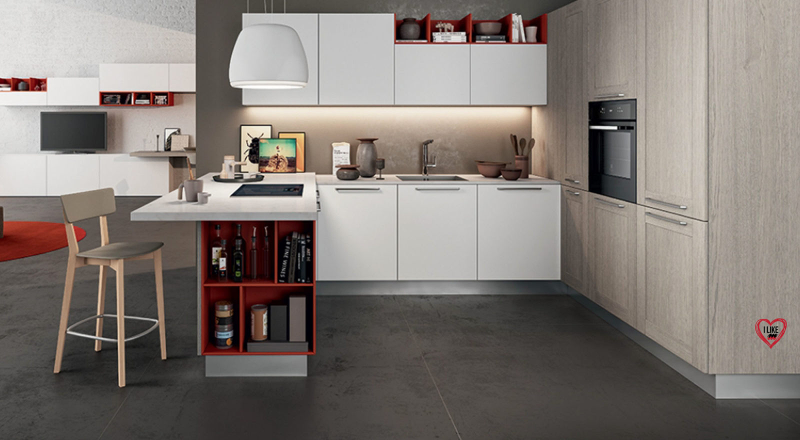 Piccole cucine moderne e componibili e con isola a Padova