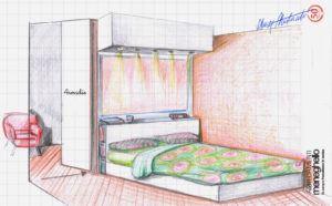 quinta scenica in camera da letto
