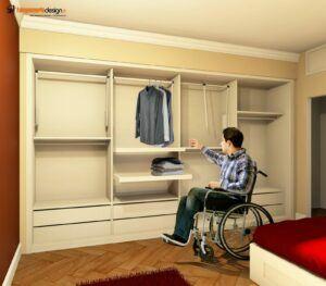 armadio per disabili